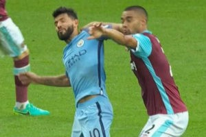 Sergio Aguero and Winston Reid